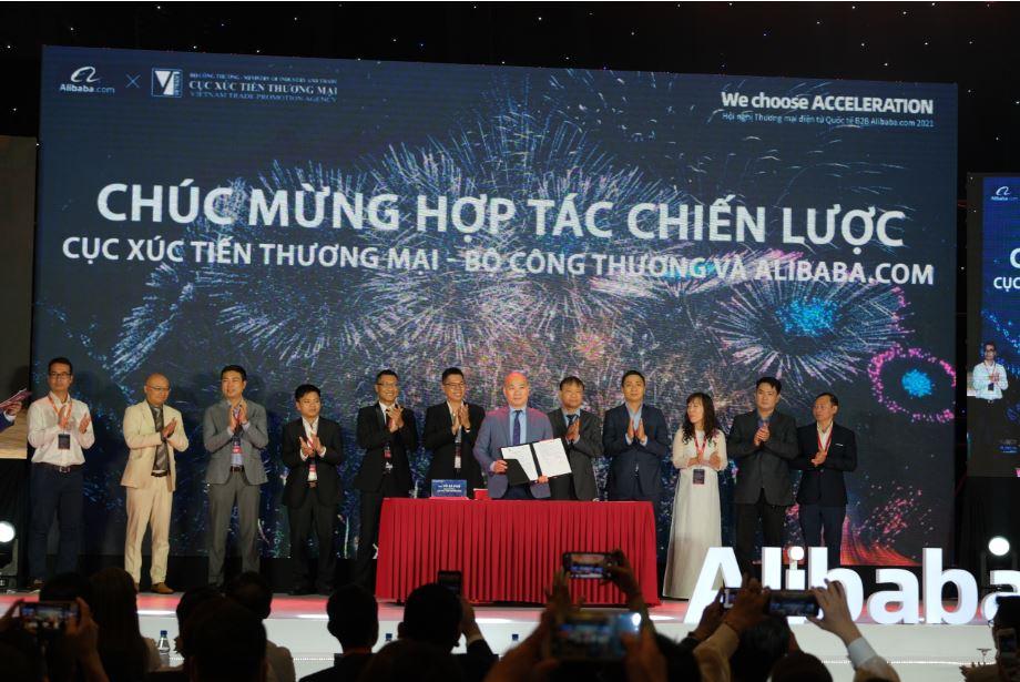 Hợp tác giữa Cục Xúc tiến thương mại và Alibaba.com - Từng bước hỗ trợ doanh nghiệp nhỏ và vừa Việt Nam xuất khẩu trực tuyến thành công.