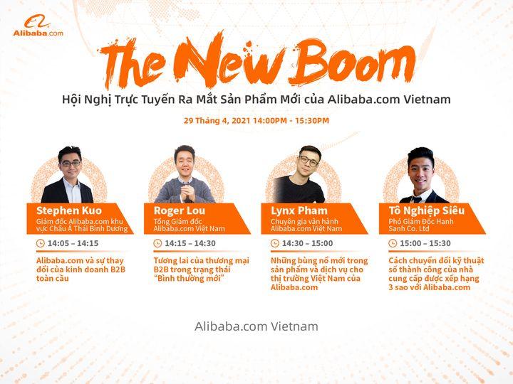 """Hội nghị trực tuyến ra mắt sản phẩm mới – The New Boom"""" của Alibaba.com?"""